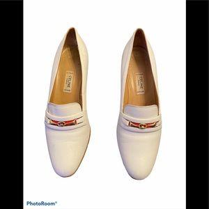 Vintage Celine Paris white heels